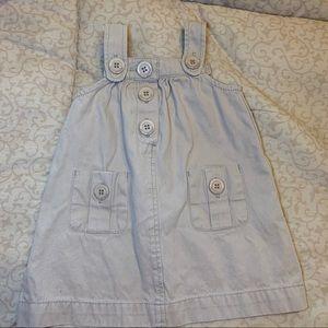 Petit Bateau Girl's Khaki Sleeveless Dress-Size12m